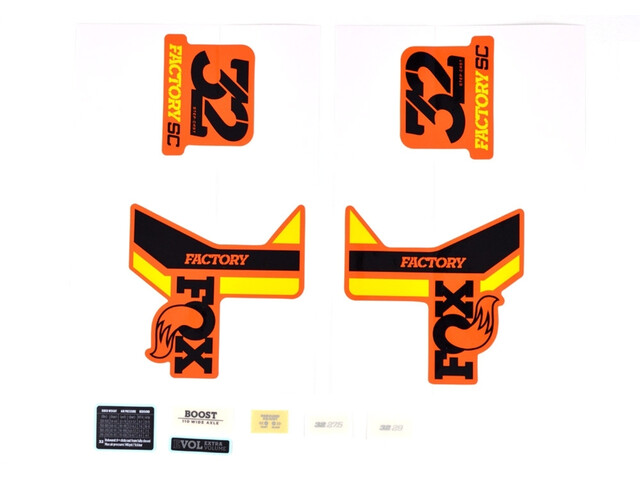 Fox Racing Shox Aufkleber-Set für 32 SC F-S black/yellow/shiny orange